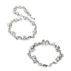 Handgemaakte zilveren set collier met armband van flamencosieraden.nl