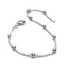 Fijne zilveren balletjes armband