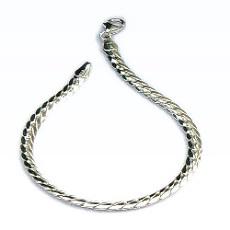 Zilveren armband bol gewalste gourmet