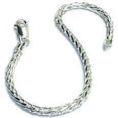 Zilveren vossestaart armband