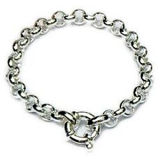 Brede zilveren jasseron armband met siersluiting