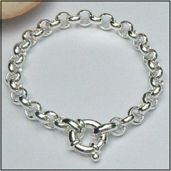 Brede zilveren jasseron armband