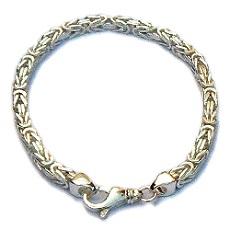 Zilveren armband koningsschakel breed