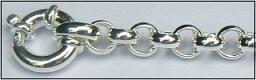 Zilveren jasseronarmband met siersluiting detail
