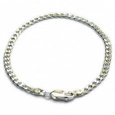 Zilveren gourmet-armband