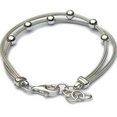 Luxe gerhodineerde zilveren balletjes armband
