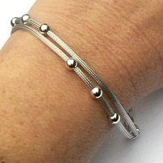 Luxe zilveren armband met ballen