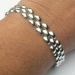 Prachtige zilveren rolex armband