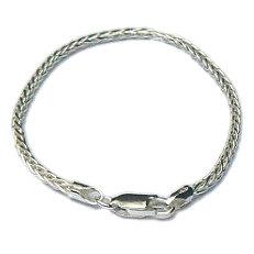 Zilveren armband vossenstaart 2.3 mm 19 cm