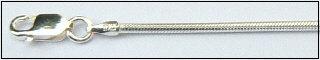 Zilveren slangencollier 1.6 mm in diverse lengtes