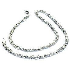 Zilveren singapore ketting