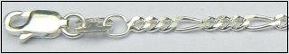 Zilveren figaro ketting 2.75 mm
