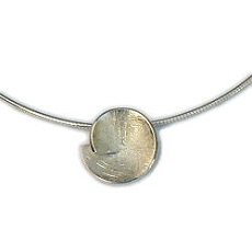 Moderne gescratchte zilveren design hanger