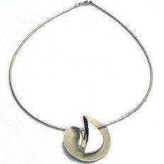 Zilveren ketting met grote hanger
