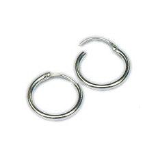 Zilveren creolen scharniertje 17 mm - 2 mm