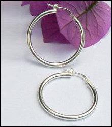 ilveren creolen (oorringen) hefboom 30 mm 2.5 mm