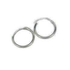 Zilveren creolen 15 mm 1.3 mm scharniertje