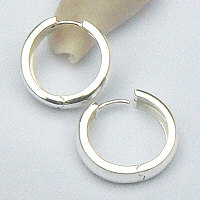 Zilveren klapcreolen 17.5 mm