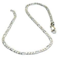 Zilveren enkelbandje figaro-schakel