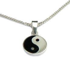 Zilveren hanger yin yang