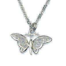 Zilveren hanger vlinder filigrain met of zonder ketting