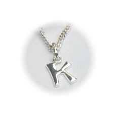 Zilveren hanger letter K
