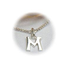 Zilveren hanger letter M