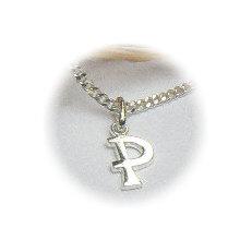 Zilveren hanger letter P