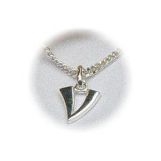 Zilveren hanger letter V