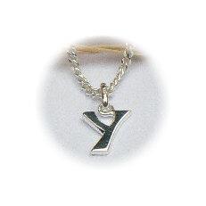 Zilveren hanger letter Y