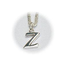 Zilveren hanger letter Z