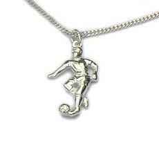 Zilveren hanger voetballer