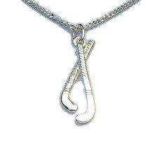 Zilveren hanger hockeysticks