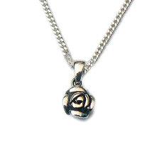 Zilveren hanger kleine roos