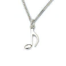 Zilveren hanger muzieknoot
