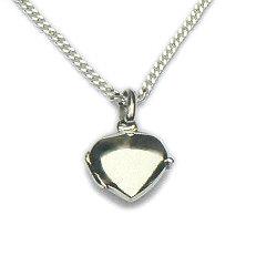 Zilveren hanger medaillon klein hart