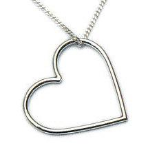 Zilveren hanger groot hart