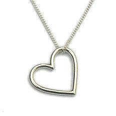 Zilveren hart hanger massief