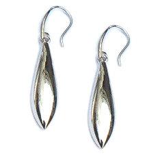 Lange zilveren oorhangers, hoogglanzend