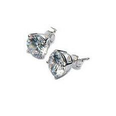 Zilveren oorstekers zirkonia 8 mm