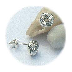 Zilveren oorstekers knoopjes