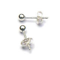 Zilveren oorknopjes balletjes