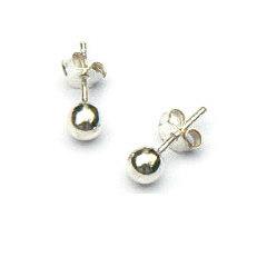 Zilveren oorknopjes balletjes 4 mm