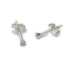 Zilveren oorknopjes zirkonia