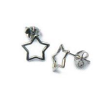 Zilveren oorstekers met sterren