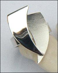 Handgemaakte zilveren ring La fuerza ontworpen en gemaakt in goudsmidsatelier Flamenco