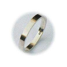 Zilveren basis ring 3 mm breed
