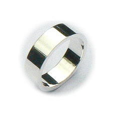 Zilveren basis ring 6 mm breed