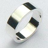 Zilveren basis ring 6 mm breed