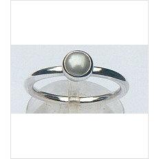 Zilveren aanschuifring Amigas met witte parel 5 mm